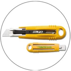 Cutter sécurité Olfa SK-4 Green